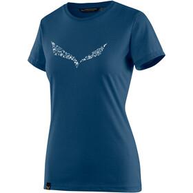 Salewa Solid Dri-Release Maglietta a maniche corte Donna blu
